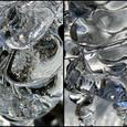 青い宝石 空を氷の中に